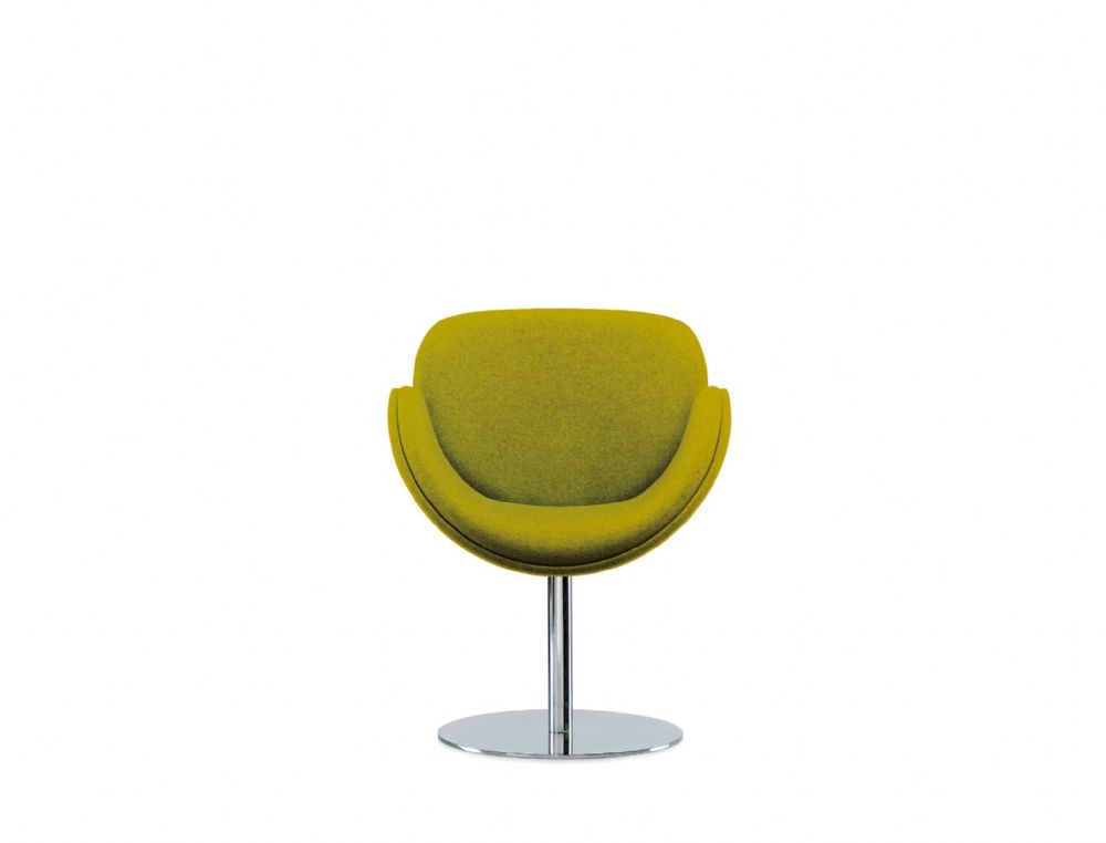 Pledge Spirit Fully Upholstered Breakout Chair With Polished Chrome Pedestal Base